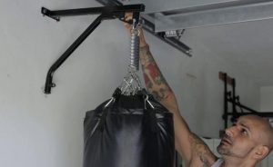 wall mount punching bag for apartment